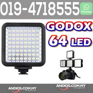 In-Stock✔Godox Mini 64 LED Video Light News Interview Lamp for DSLR Camera DV Camcorder