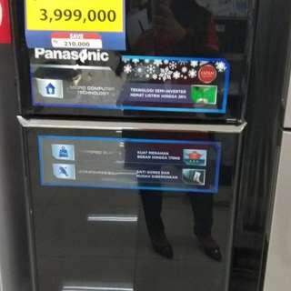Panasonic NR-B229S-K/BL DP 0% Cukup Admin 199.000 Tanpa Kartu Kredit