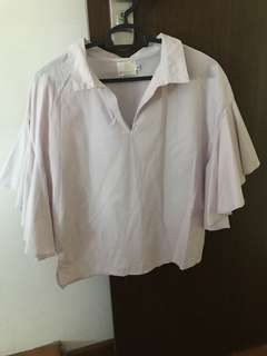 Korean Megagamie butterfly sleeved blouse 👚