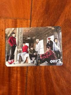 got7 第23期 group yes card
