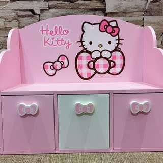 現貨Hello kitty抽屜式收納盒收納木盒