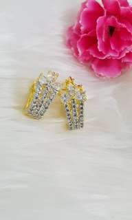 American diamond Earrings with Gold Plating