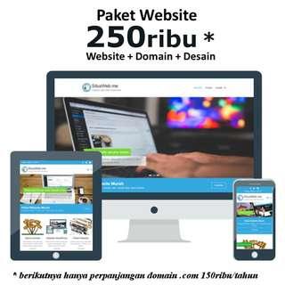 Paket Website, Desain dan Domain