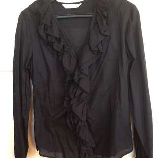 WOOLWORTHS BRAND-Black Office Blouse