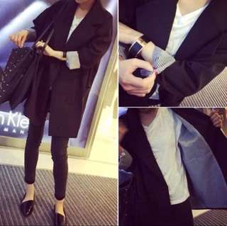 Spring double breasted long-sleeved casual small suit jacket