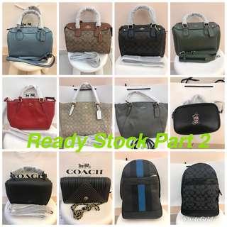 Original coach women Handbag sling bag ng bag crossbody bag ready Stock Guess Tory Burch women bag