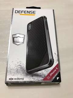 BNIB X-Doria iPhone X Defense Lux, Black Carbon Fiber