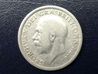 1933 UK King George V Silver Shilling Coin