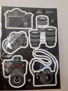 Sony A7iii authentic stickers