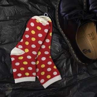 Polka dotted socks