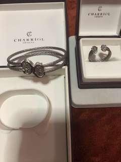 Charriol bangle and ring set