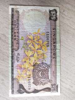 $25 Currency Note