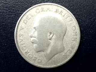 1924 UK King George V Silver Shilling Coin