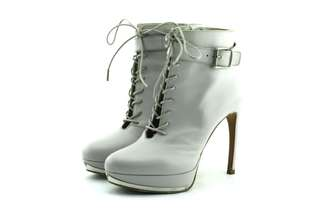 ALEXANDER MCQUEEN Leather Lace-Up Boots