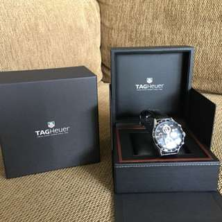 Tag Heuer Watch with Leather Strap