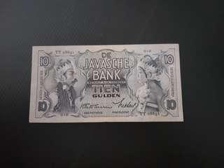 Netherland Control Indonesia 10 Gulden