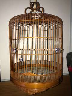 Shama Semi Fine Cage with complete -cups / cloth/removable crown/ hook .