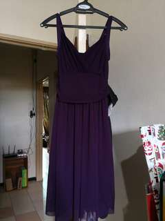 Dark Purple Dress with purple clutch (1 set)