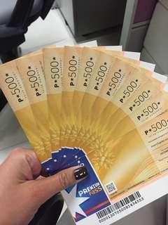 Sodexo gift certificate (500 denomination)