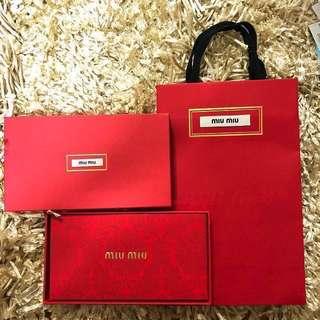 Miu miu 紅包袋禮盒組