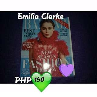 Emilia Clarke Bazaar Magazine