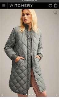 WITCHERY Diamond Rib Puffer Jacket/Coat Size 10 BNWT