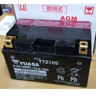 🚚 湯淺機車電池 YUASA TTZ10S 10號機車電瓶(7號加強) 噴射機車專用