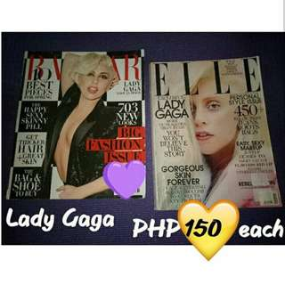 Lady Gaga Elle, Bazaar, Glamour and Vanity Fair Magazines