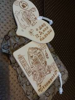 台灣 淡水 木牌手信掛飾