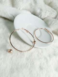 Ready !!! Anting Hoops Rose Gold