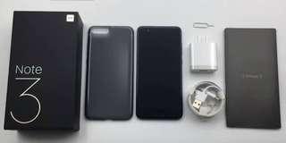 Xiaomi Mi Note 3 6/64GB Black Bisa Cicilan Proses Mudah