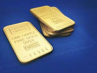 24K Gold Plated Switzerland Bullion 1oz gold bar SOUVENIR