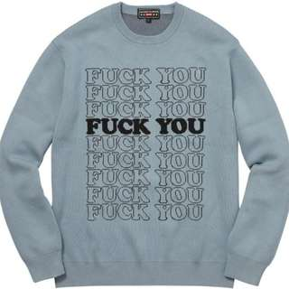 Supreme Hysteric Glamour Fuck You Sweater Light Blue