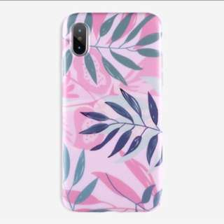 Pink floral imd case iPhone 5 5s se 6 6s plus 7 8