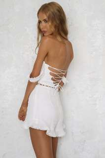 BOYBAND BLISS PLAYSUIT WHITE sz 8