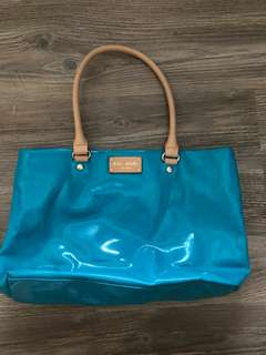 Kate Spade Turquoise Shiny Women Handbag