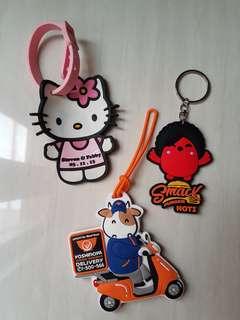 Luggage tag, key chain (gantungan koper, kunci)