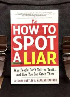 # Highly Recommended《New Book Condition + Revised Edition + Teaching How Specific, Practical Coaching On How To Detect Deception. 》HOW TO SPOT A LIAR: Why People Don't Tell the Truth...and How You Can Catch Them
