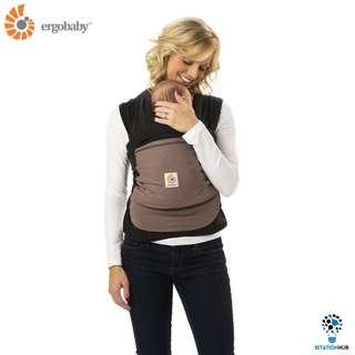 [Pre-Order] Ergobaby Wrap Carrier | Pepper - Black Wrap with Taupe Pocket [BG-WRPBLKTPNL]