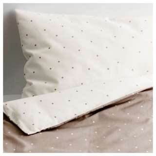 IKEA ALSKAD Baby bed sheet polka dot linen