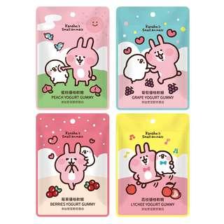 台灣 預購 卡娜赫拉 Kanahei P助與兔兔 CHiC 水果優格系列軟糖 (葡萄/荔枝/蜜桃/莓果)