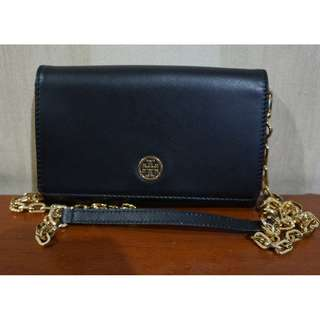 100% Authentic Tory Burch Robinson Chain Wallet