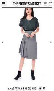 The Editor's Market / TEM Anastasha Check Midi Skirt