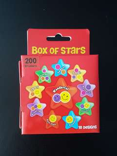 [INSTOCK] BN Red Box of Stars Stickers (200 stickers)