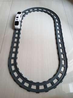 Fast train track electric