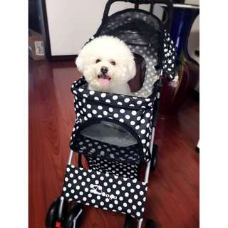 Foldable Pets Stroller - One Hand Folding