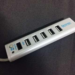 輕巧外出型 辦公用 USB 旅行多孔插頭轉接器