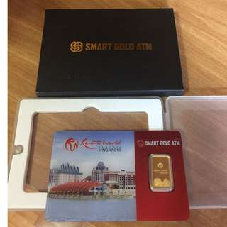 999 Fine Gold Resorts World Sentosa 2.5g Gold Bar (BNIB)