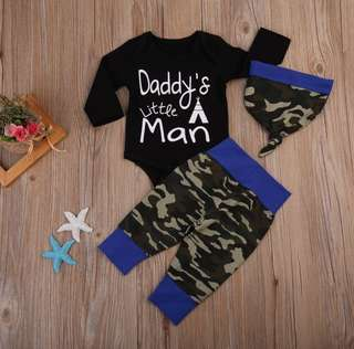 Baby Boy Camouflage Romper Set