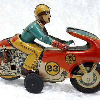 Rare Vintage motorbike toy OMI
